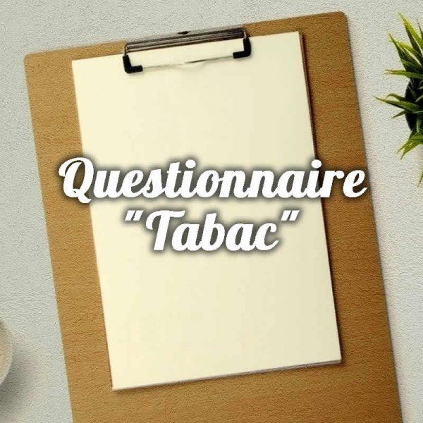 Fleurs de Bach Questionnaire Tabac